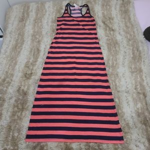 2x20 Maxi dress stripes blue orange